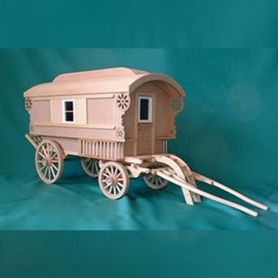 1/12th scale Gypsy caravan kit, inc furniture