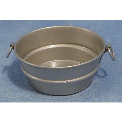 """Galvanised"""" Zinc Washing Bowl"""