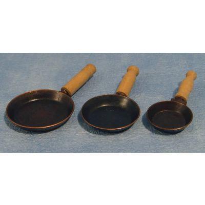 Frying pans (Pk of 3 Asst.)