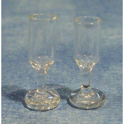 Glass Wine Glasses (Pk 2 )