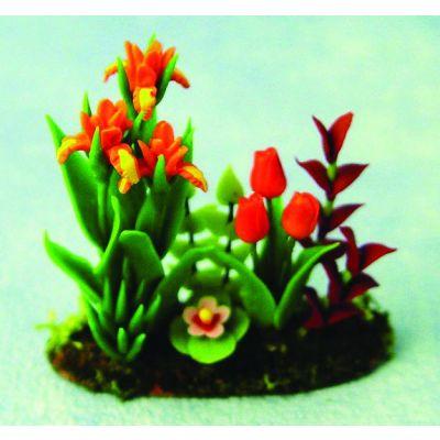 Iris & Tulip in Garden