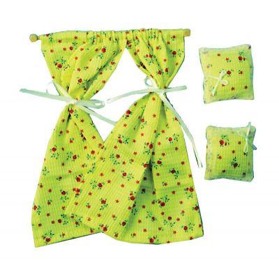 Curtain & Pillows Yellow