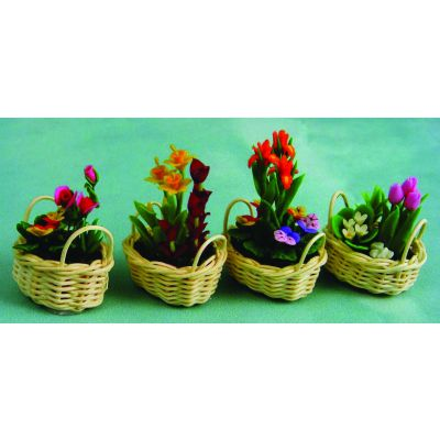 Flowers in Baskets, priced each