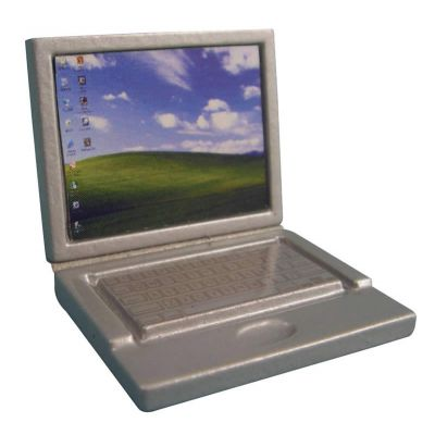 Detailed Silver Laptop