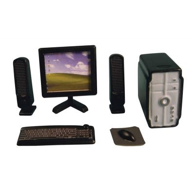 Black Desktop Computer Set