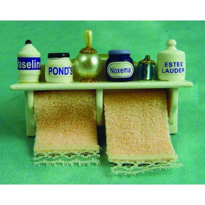 Long Bath Shelf & Towels
