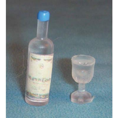 Spirit Bottle & 2 Glasses