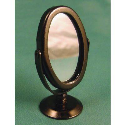 Oval Silver Swivel Mirror