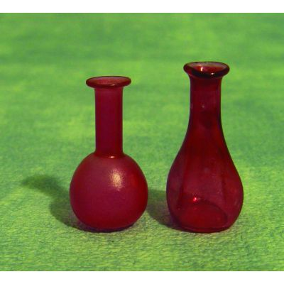 2 Red Red Decanters