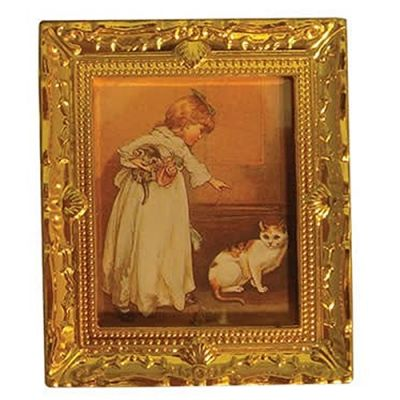 Lg Gold Frame Child/Pet Picture
