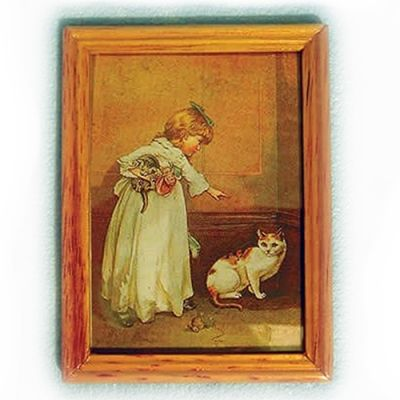 Lg Wood Frame Child/Pet Picture