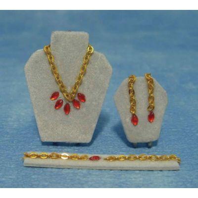 Ruby Jewelery Set