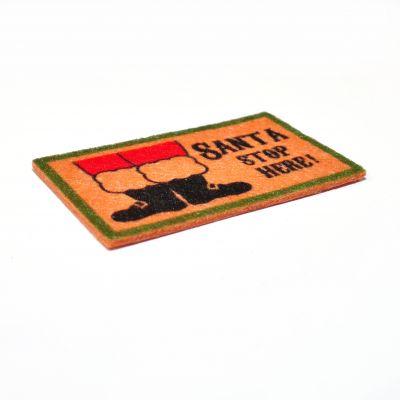 Santa Stop Here mat