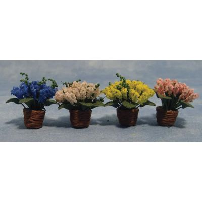 Flowers in Baskets 4asst (price each)