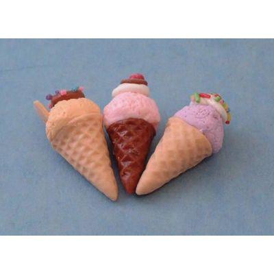 Ice Cream Cones pk3