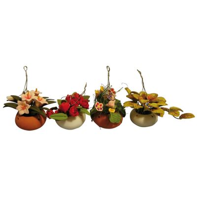Hang Flowers in Bowl 4asst (price each)