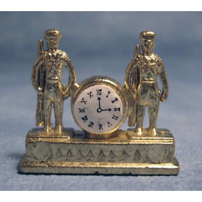 Soldiers Mantle Clock Gold