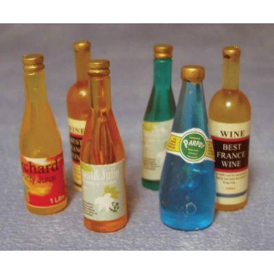 6 Mixed Wine Bottles