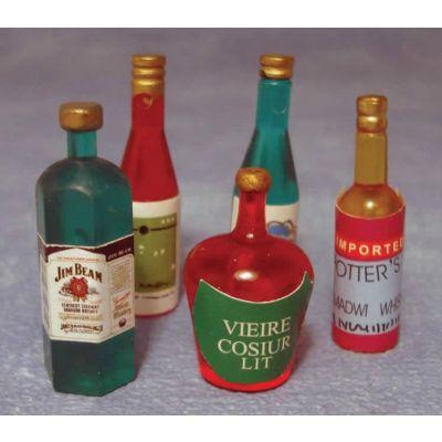 5 Spirit Bottles