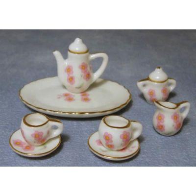 Pink Flower Tea/Coffee Set