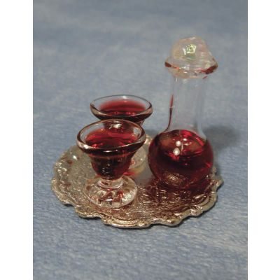 Decanter & Glasses on Tray