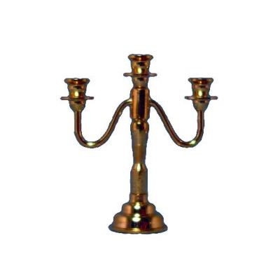3 Arm Brass Candleabra