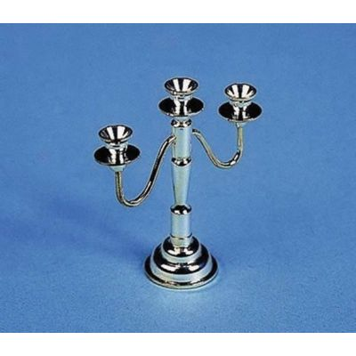 3 Arm Silver Candleabra