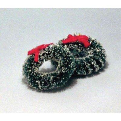 2 Christmas Wreaths 37mm diameter