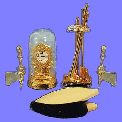 FireplaceTools,Bellows,Clock