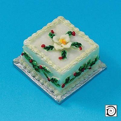 Square Christmas Cake (V6066)