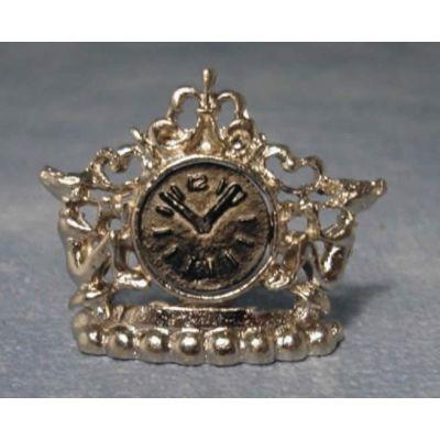 Silver Pixie Mantle Clock