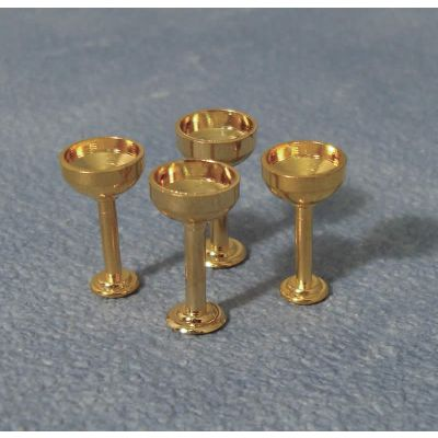 Gold Champagne Goblet pk4