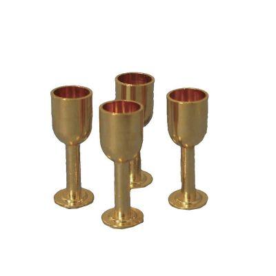 Gold Wine Goblet pk4