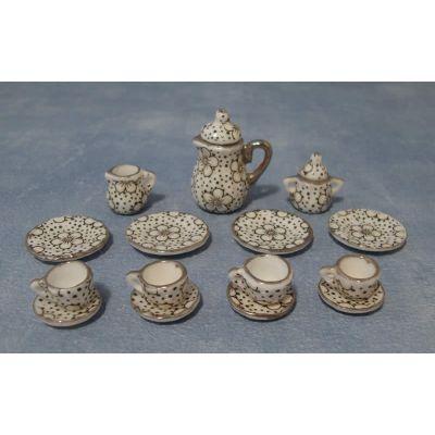 30's Web Pattern Tea Set