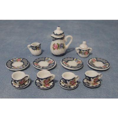 Heavy Floral Tea Set