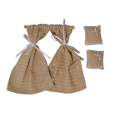 Cream Diamond Cushions & Curtains