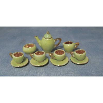 1930s Green Coffee Set