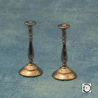 Silver Candle Stick Pair