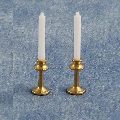 Brass Candlestick pair D2529