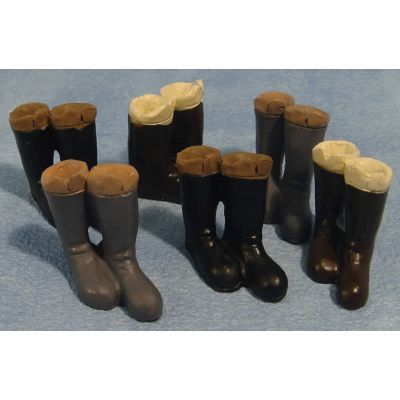 Pairs of Tall Boots (Pk6}