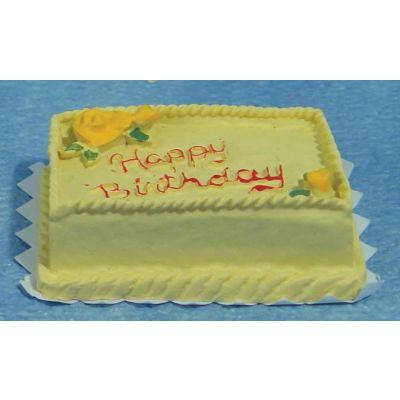 Rect. Birthday Cake