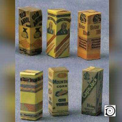 Spirit Bottles boxes pk6