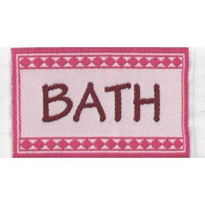 Bath mat, pink.