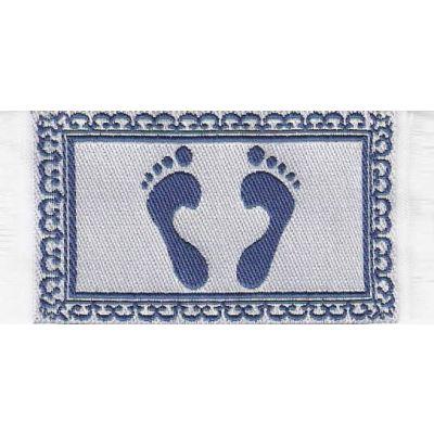 Footprint' Bath mat, blue.