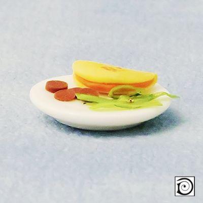 Frittata on plate