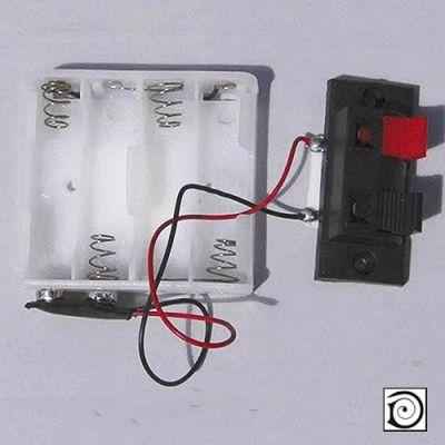 12V Battery Holder w Connectors