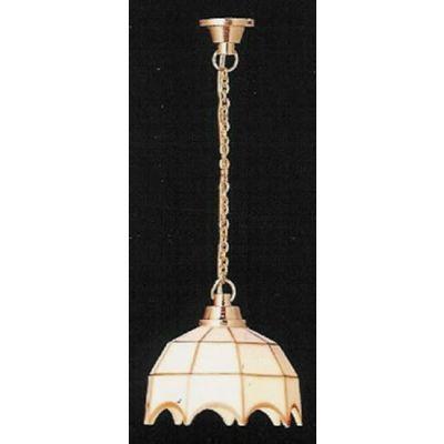 White Tiffany Ceiling Lamp