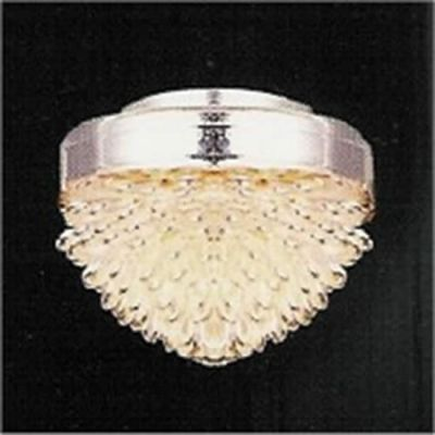 Silver/Glass ceiling light