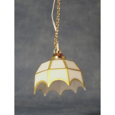 White Tiffany Hanging LED