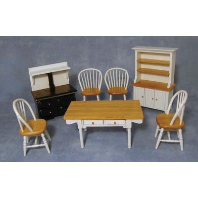 White/Pine Kitchen Set